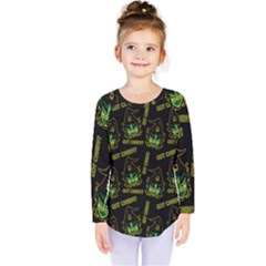 Pattern Halloween Witch Got Candy? Icreate Kids  Long Sleeve Tee