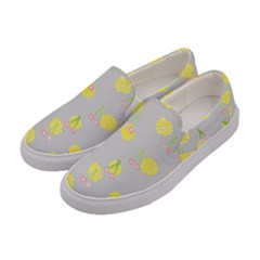Cute Fruit Cerry Yellow Green Pink Women s Canvas Slip Ons by Mariart