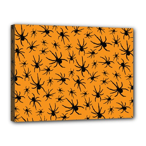 Pattern Halloween Black Spider Icreate Canvas 16  X 12  by iCreate