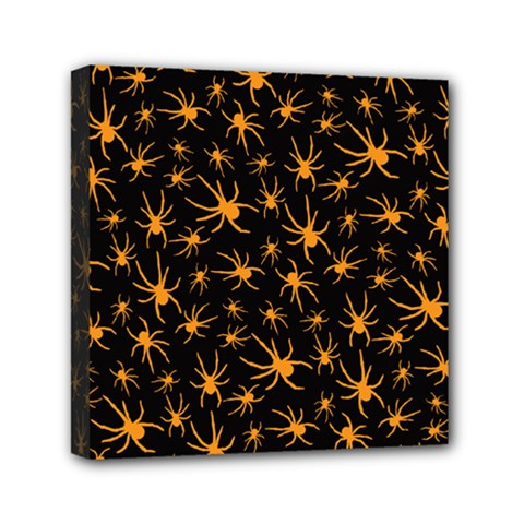Halloween Spiders Mini Canvas 6  X 6  by iCreate