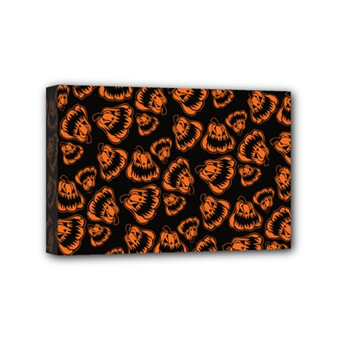 Pattern Halloween Jackolantern Mini Canvas 6  X 4  by iCreate