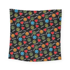 Pattern Halloween Peacelovevampires  Icreate Square Tapestry (small) by iCreate