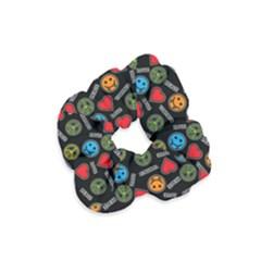 Pattern Halloween Peacelovevampires  Icreate Velvet Scrunchie by iCreate