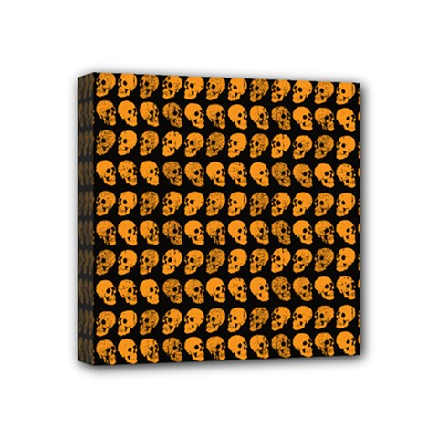 Halloween Color Skull Heads Mini Canvas 4  X 4  by iCreate