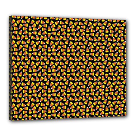 Pattern Halloween Candy Corn   Canvas 24  X 20  by iCreate