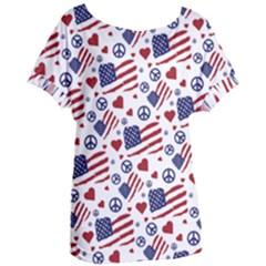 Peace Love America Icreate Women s Oversized Tee
