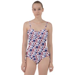 Peace Love America Icreate Sweetheart Tankini Set
