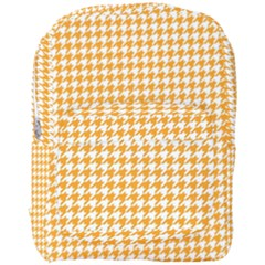 Friendly Houndstooth Pattern, Orange Full Print Backpack
