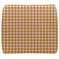 Friendly Houndstooth Pattern, Orange Back Support Cushion