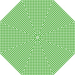 Friendly Houndstooth Pattern,green Straight Umbrellas by MoreColorsinLife