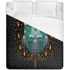 Temple Of Yoga In Light Peace And Human Namaste Style Duvet Cover (california King Size) by pepitasart