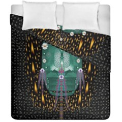 Temple Of Yoga In Light Peace And Human Namaste Style Duvet Cover Double Side (california King Size) by pepitasart