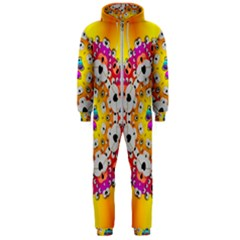 Fantasy Flower In Tones Hooded Jumpsuit (men)
