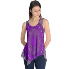 Fantasy Flowers In Harmony  In Lilac Sleeveless Tunic by pepitasart