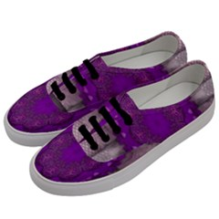 Fantasy Flowers In Harmony  In Lilac Men s Classic Low Top Sneakers by pepitasart