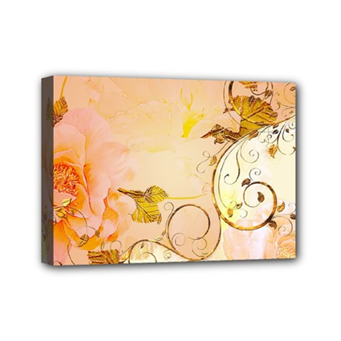 Wonderful Floral Design In Soft Colors Mini Canvas 7  X 5  by FantasyWorld7