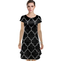Tile1 Black Marble & Gray Leathertile1 Black Marble & Gray Leather Cap Sleeve Nightdress