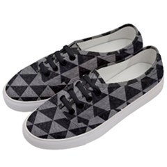 Triangle3 Black Marble & Gray Leather Women s Classic Low Top Sneakers by trendistuff