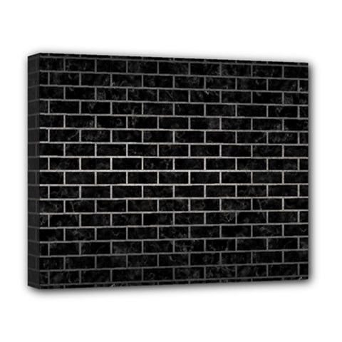 Brick1 Black Marble & Gray Metal 1 Deluxe Canvas 20  X 16   by trendistuff