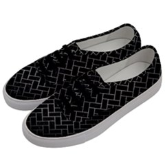 Brick2 Black Marble & Gray Metal 1 Men s Classic Low Top Sneakers by trendistuff