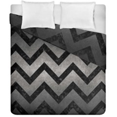 Chevron9 Black Marble & Gray Metal 1 (r) Duvet Cover Double Side (california King Size) by trendistuff