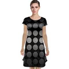 Circles1 Black Marble & Gray Metal 1 Cap Sleeve Nightdress
