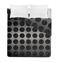 Circles1 Black Marble & Gray Metal 1 (r) Duvet Cover Double Side (full/ Double Size) by trendistuff