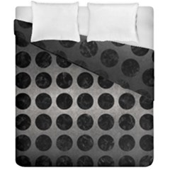 Circles1 Black Marble & Gray Metal 1 (r) Duvet Cover Double Side (california King Size) by trendistuff