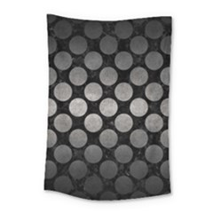 Circles2 Black Marble & Gray Metal 1 Small Tapestry by trendistuff