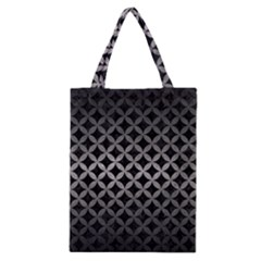 Circles3 Black Marble & Gray Metal 1 Classic Tote Bag by trendistuff
