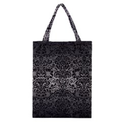 Damask2 Black Marble & Gray Metal 1 (r) Classic Tote Bag by trendistuff