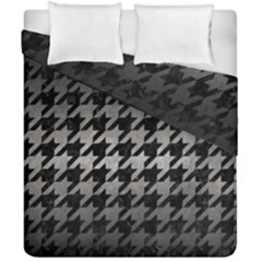 Houndstooth1 Black Marble & Gray Metal 1 Duvet Cover Double Side (california King Size) by trendistuff