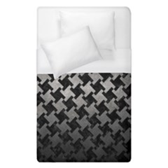 Houndstooth2 Black Marble & Gray Metal 1 Duvet Cover (single Size) by trendistuff