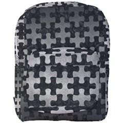 Puzzle1 Black Marble & Gray Metal 1 Full Print Backpack by trendistuff