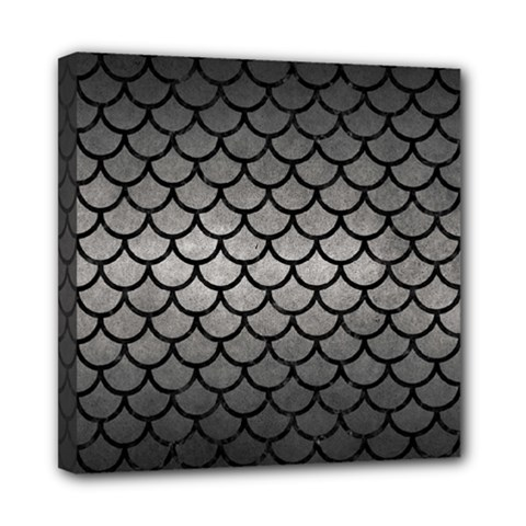Scales1 Black Marble & Gray Metal 1 (r) Mini Canvas 8  X 8  by trendistuff