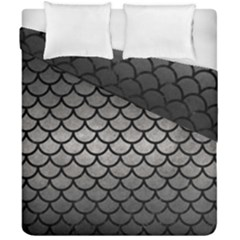 Scales1 Black Marble & Gray Metal 1 (r) Duvet Cover Double Side (california King Size) by trendistuff