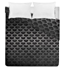 Scales3 Black Marble & Gray Metal 1 Duvet Cover Double Side (queen Size) by trendistuff