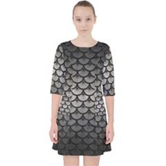 Scales3 Black Marble & Gray Metal 1 (r) Pocket Dress by trendistuff