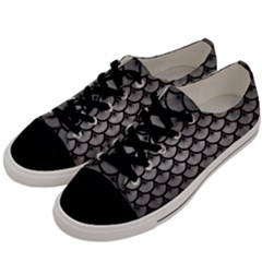 Scales3 Black Marble & Gray Metal 1 (r) Men s Low Top Canvas Sneakers by trendistuff