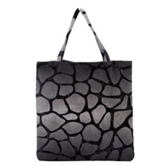 Skin1 Black Marble & Gray Metal 1 Grocery Tote Bag by trendistuff