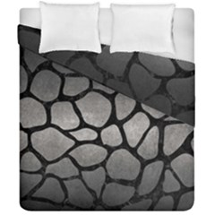 Skin1 Black Marble & Gray Metal 1 Duvet Cover Double Side (california King Size) by trendistuff