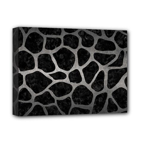 Skin1 Black Marble & Gray Metal 1 (r) Deluxe Canvas 16  X 12   by trendistuff