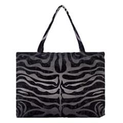 Skin2 Black Marble & Gray Metal 1 Medium Tote Bag by trendistuff