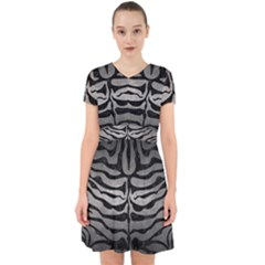 Skin2 Black Marble & Gray Metal 1 (r) Adorable In Chiffon Dress