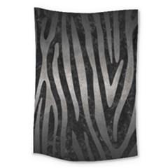 Skin4 Black Marble & Gray Metal 1 (r) Large Tapestry by trendistuff