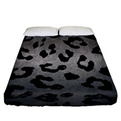 Skin5 Black Marble & Gray Metal 1 Fitted Sheet (queen Size) by trendistuff