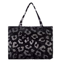 Skin5 Black Marble & Gray Metal 1 (r) Medium Tote Bag