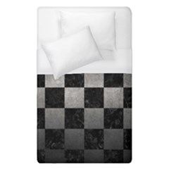 Square1 Black Marble & Gray Metal 1 Duvet Cover (single Size) by trendistuff