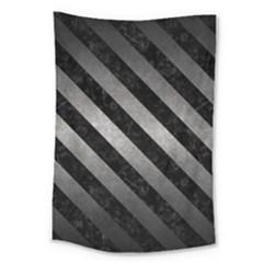 Stripes3 Black Marble & Gray Metal 1 (r) Large Tapestry by trendistuff