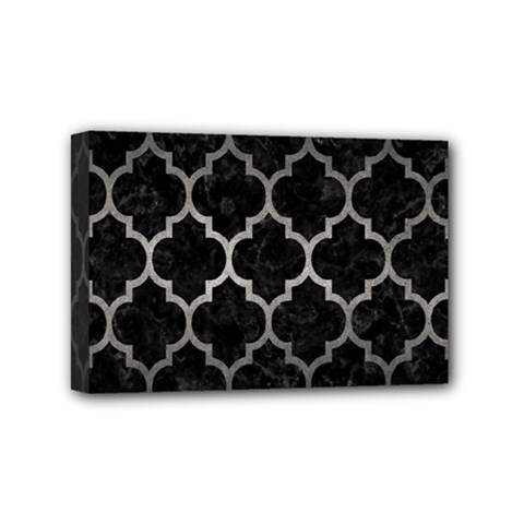 Tile1 Black Marble & Gray Metal 1 Mini Canvas 6  X 4  by trendistuff
